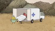 S7E24.153 Cereal Box Monster Being Placed in the Ambulance