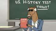 S6E21.056 Principal Party Horse Holding the US History Test
