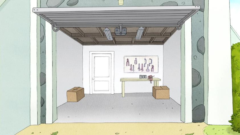 open garage doorImage  S6E23007 Garage Door Being Open Againpng  Regular Show