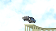 S4E12.166 A Car Driving Off the Ramp