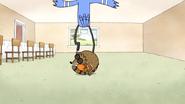 S5E12.033 Rigby Rolling Through Mordecai's Leg