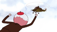 S6E18.197 Benson Leaping Towards the Attack Chopper