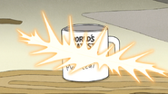 S7E06.153 World's Greatest Mordecai Mug Getting Sliced