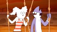 S5E27.48 Mordecai & CJ Gazing Into Each Other