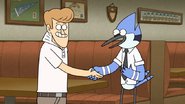 S6E25.044 Mordecai and Del Shaking Hands