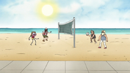 S7E01.024 Young Benson Playing Volleyball
