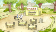 S7E19.014 Mordecai, Rigby, and Skips at the Snack Bar