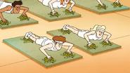 S6E15.094 People Doing Yoga on Turtles
