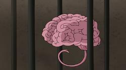 S8E08.028 Evil Brain in a Cage