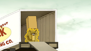 S6E06.155 Rigby with the Box Over His Head