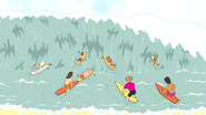 S5E29.038 Surfers Catching a Wave