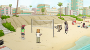 S7E01.096 Bum Mordecai and Rigby Playing Volleyball