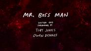 S7E09 Mr. Boss Man Title Card