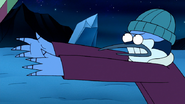 S8E23.094 Mordecai Throwing More Gifts