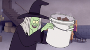 S7E09.326 Chocolate Witch with a Bucket of Chocolate Body Parts