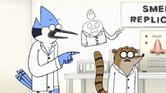 S7E29.124 Mordecai and HFG Pointing to Rigby's Actions