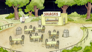 S8E01.045 Skips Looking for a Signal Around the Snack Bar 01