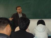 Owen Dennis teaching