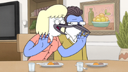 S6E01.117 Mordecai's Mom Tells CJ About Mordy Moments
