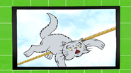 S7E07.096 Curmudgeon Cat Falling Off the Tightrope