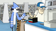 S3E34.010 Mordecai Handing Over Their Membership Card to Dave