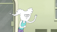S6E11.094 CJ Reluntantly Waves Back to Mordecai