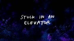 S8E12 Stuck in an Elevator Title Card