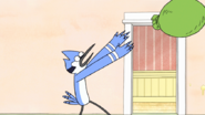 S8E23.247 Mordecai Tossing the Bag of Cookies
