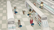 S7E01.066 Rigby Walking Through the Dumptown Deli
