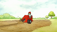 S7E25.011 Muscle Man Using the Trencher