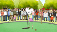 S6E03.136 CJ Swings at the First Hole