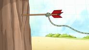S7E29.208 Arrowing Hitting a Tree
