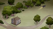 S3E04.325 The Wizard's Car Heading Towards Rigby the House