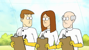 S7E29.089 Science Assistants Looking Confused