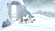 S6E27.097 Mordecai and Rigby in the Snow Mountains