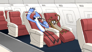 S6E13.215 Mordecai and Rigby Going OOOOH! on a Plane
