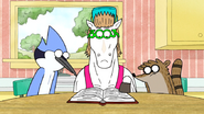 S6E21.137 Mordecai and Rigby Watching Party Horse Study