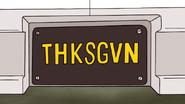S5E12.119 THKSGVN License Plate