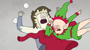 S6E09.190 Muscle Man Getting Elbow Dropped by an Angry Elf