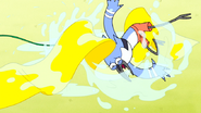 S6E01.124 Kid Mordecai Slip and Slide Fail