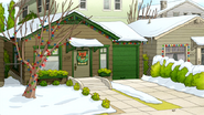 S7E18.007 Eileen's House with Christmas Decoration