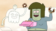 S7E20.021 Muscle Man and HFG Holding Donuts