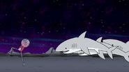S8E19.050 Benson Running From the Sharks