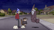 S3E04.233 The Wizard Appearing in Front of Mordecai and Rigby