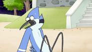 S8E01.031 Mordecai Watching Everybody Panic