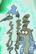 Mordecai and Rigby teleporting again