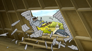 S7E26.159 Rigby Busting Through the Door