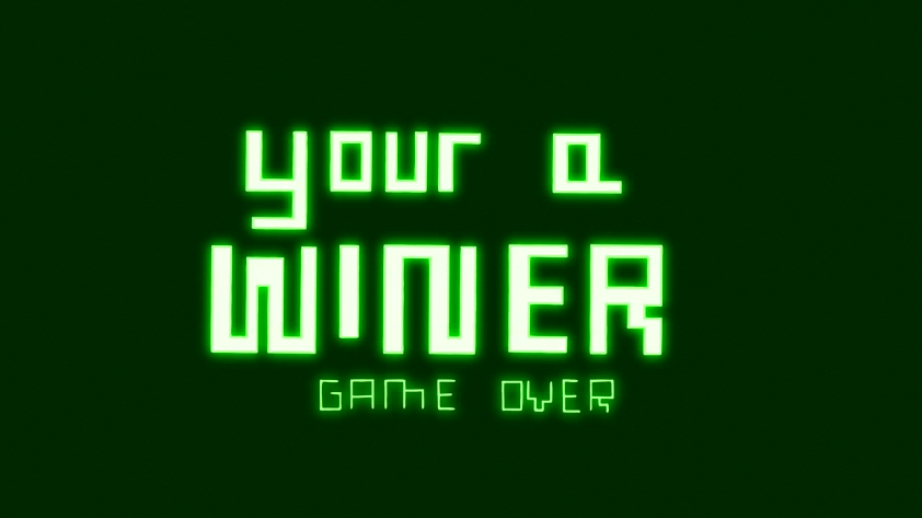 S7E06279 Your A Winner Game Over