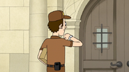 S7E26.185 Delivery Man Looking at His Watch