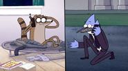 S5E37.094 Mordecai Calling Rigby for Back-up